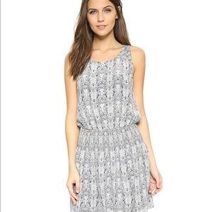 Joie Lawska Python Snakeskin Silk Blousen Dress